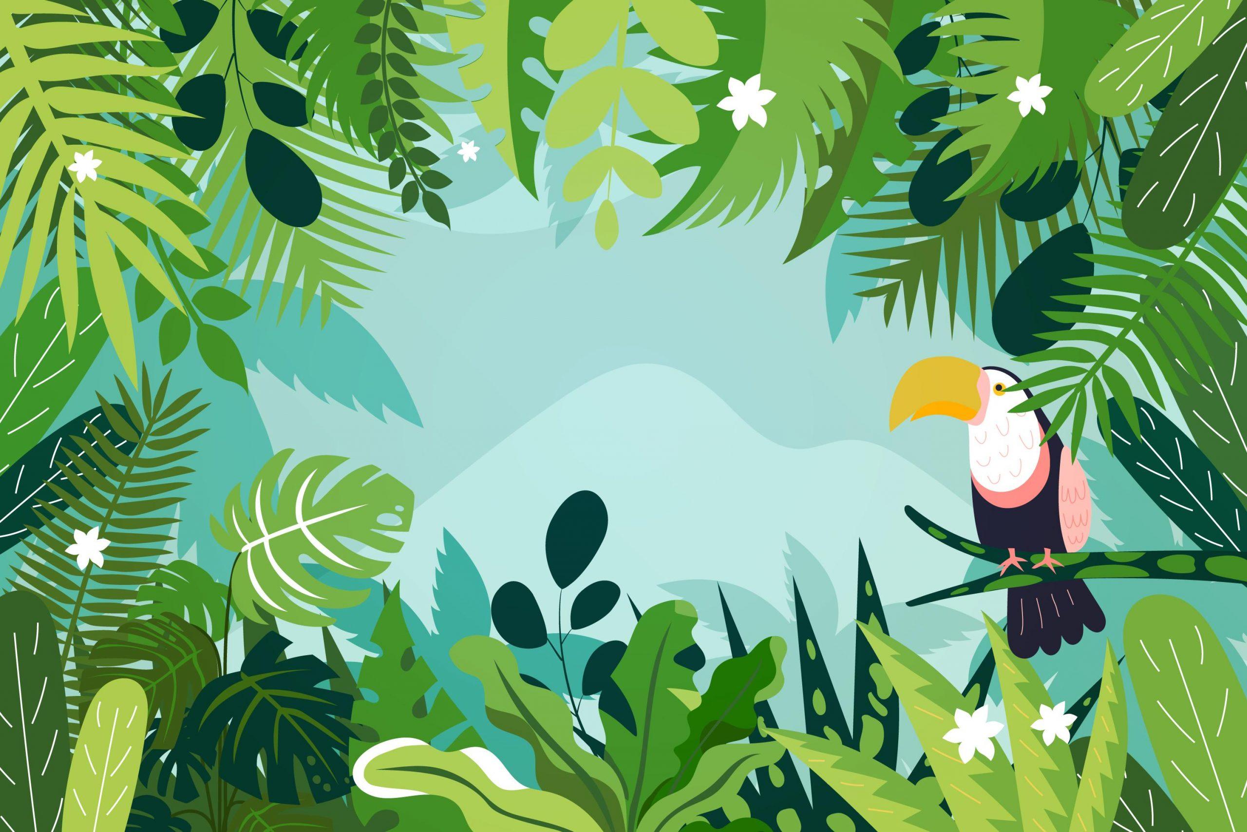 Organic flat jungle background - Background vector created by freepik - www.freepik.com